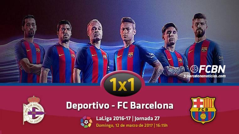 El 1x1 del FC Barcelona frente al Deportivo de la Coruña