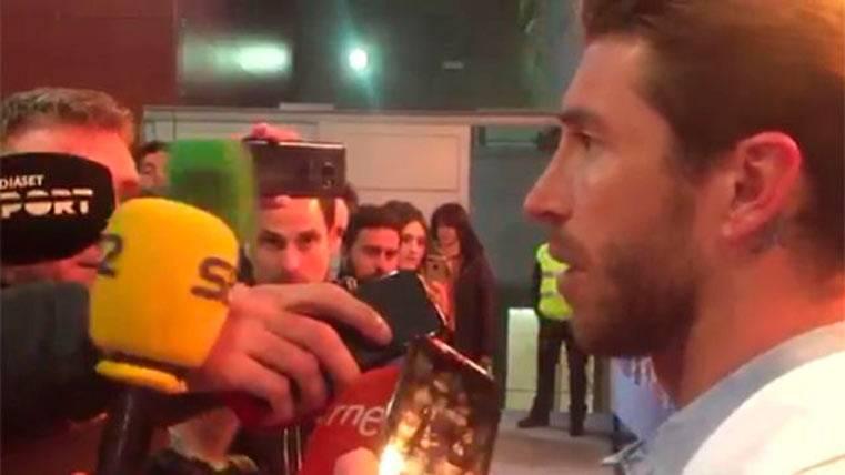 Sergio Ramos rajando de la remontada del Barça ante el PSG