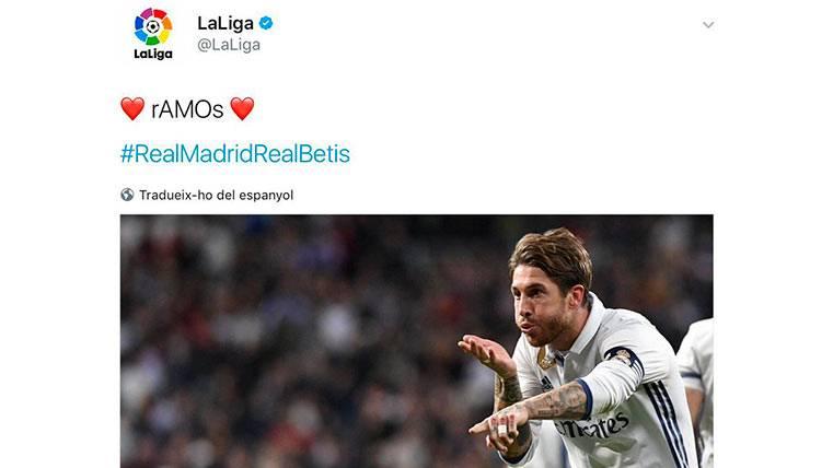 Lamentables tuits de LaLiga sobre Ramos humillan al Betis