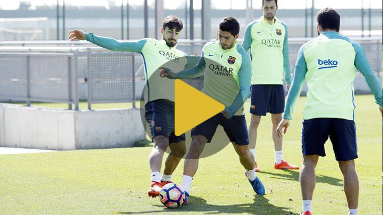 Neymar y Rafinha despejan las dudas en el entreno del Barça