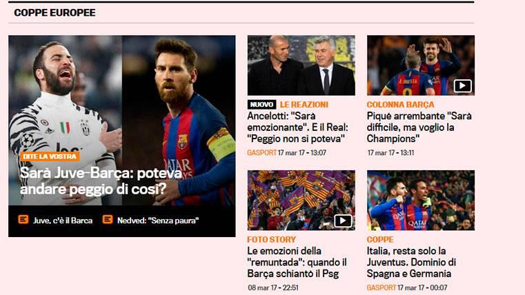 """""""¿Podría haber sido peor?"""", así ven el Juve-Barça en Italia"""