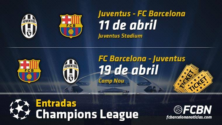 Entradas FC Barcelona vs Juventus - Champions League
