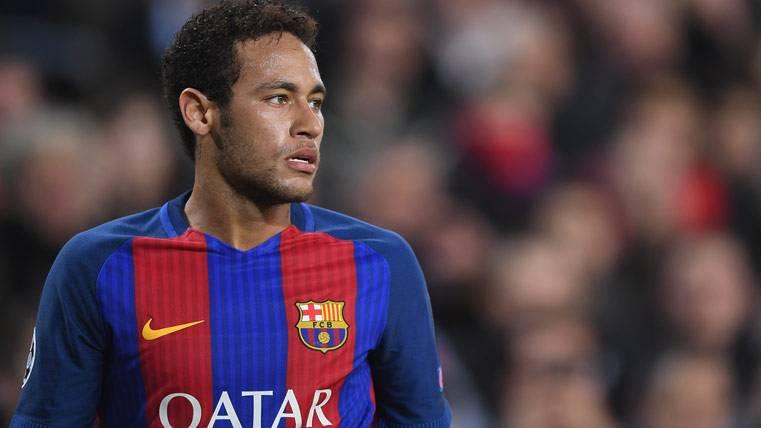 Neymar Jr, durante un partido con el FC Barcelona esta temporada
