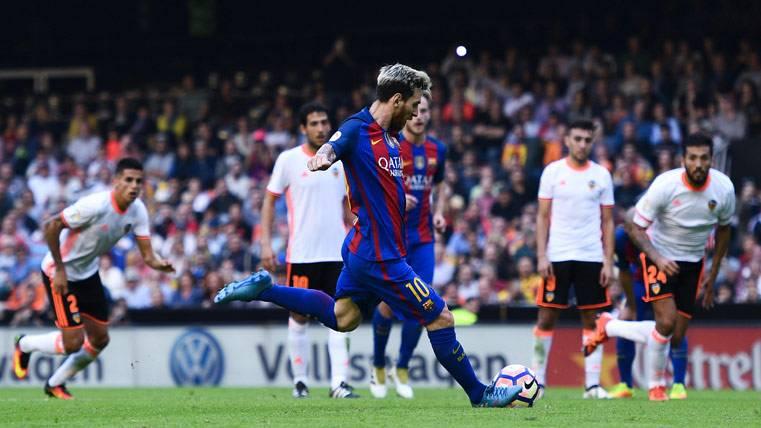 Messi, un auténtico especialista en perforar al Valencia