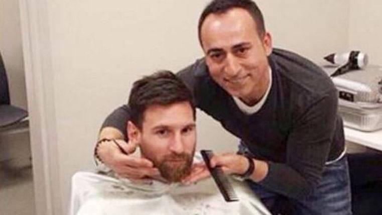 """Ligero cambio de """"look"""" de Messi antes del Barça-Valencia"""
