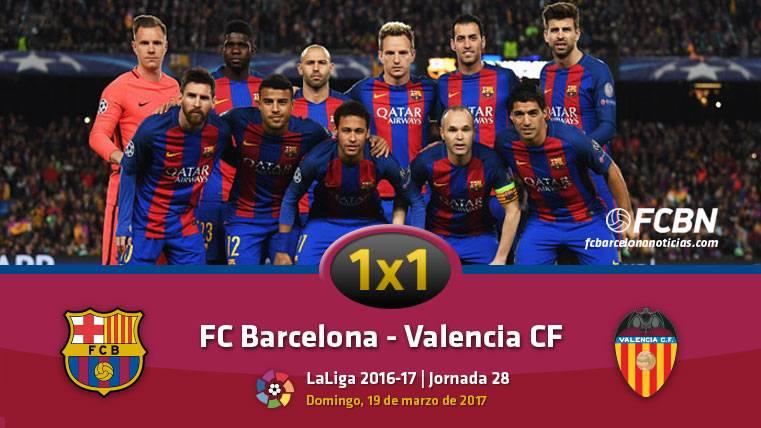 El 1x1 del FC Barcelona frente al Valencia (Liga J28)