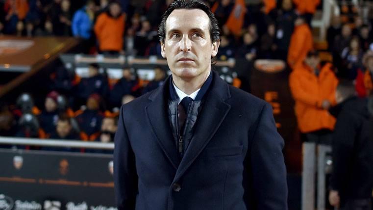 Unai Emery, durante la visita del PSG al Lorient
