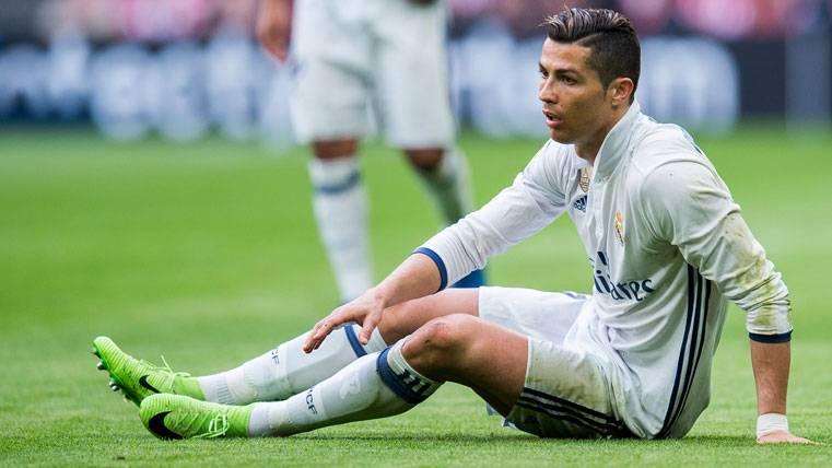 Cristiano Ronaldo, durante el partido contra el Athletic de Bilbao