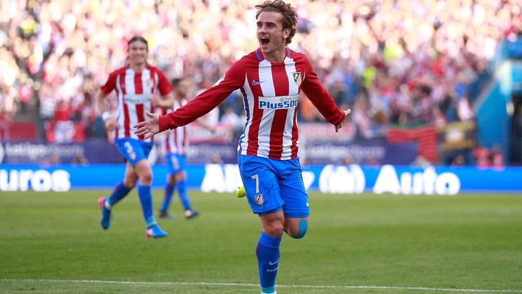 Antoine Griezmann, celebrando un gol con el Atlético de Madrid