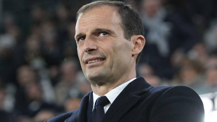 Massimiliano Allegri, durante un partido de la Juventus de Turín