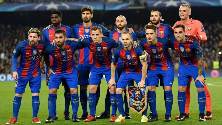 Alineación del FC Barcelona contra el Borussia M'Gladbach