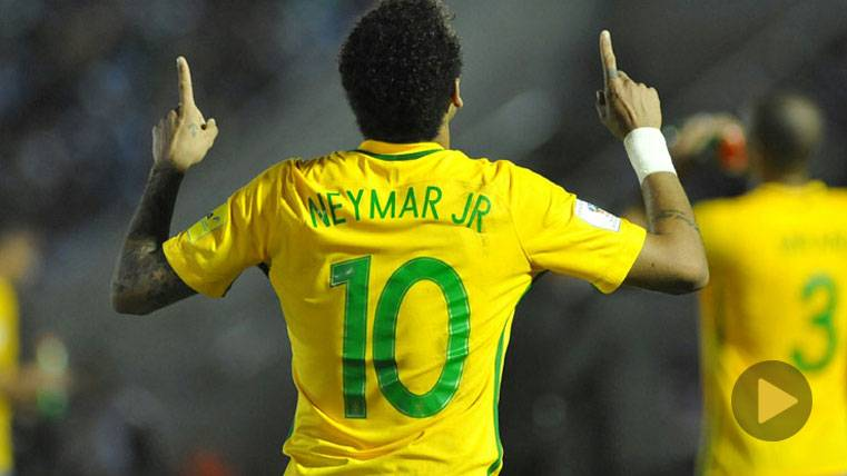 Magia de Neymar Jr en la goleada de Brasil a Uruguay