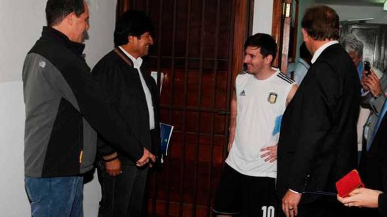 ¡El presidente de Bolivia defendió a Messi ante la FIFA!