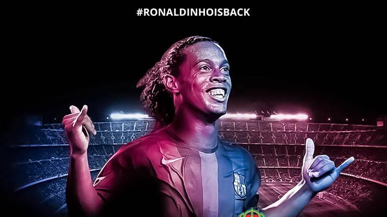 Ronaldinho confirmó que volverá a jugar un Barça-Madrid
