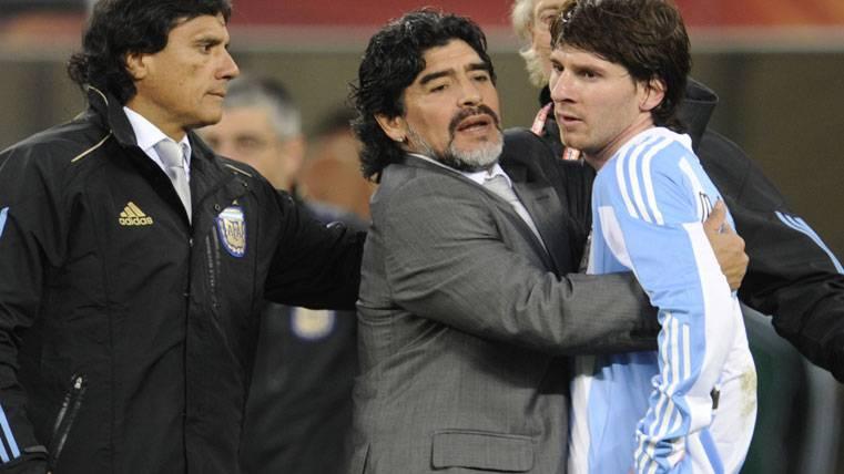 """Maradona al rescate: """"Voy a hablar con la FIFA sobre Messi"""""""