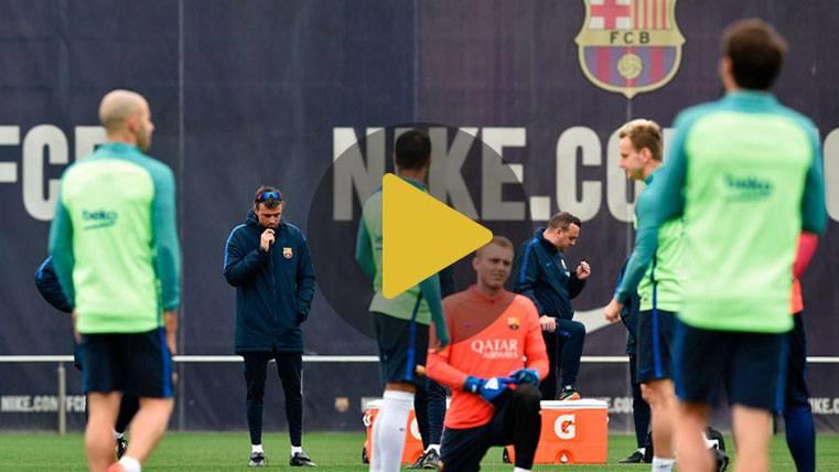 """El Barça empezó a preparar la visita a Granada sin la """"MSN"""""""