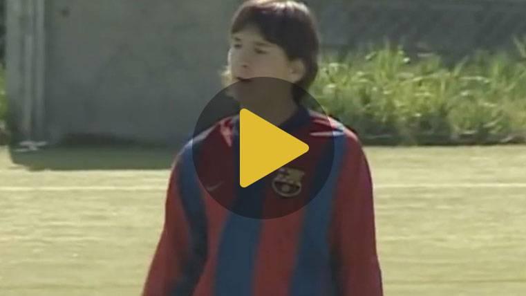 El vídeo inédito de Messi cuando maravillaba en La Masía