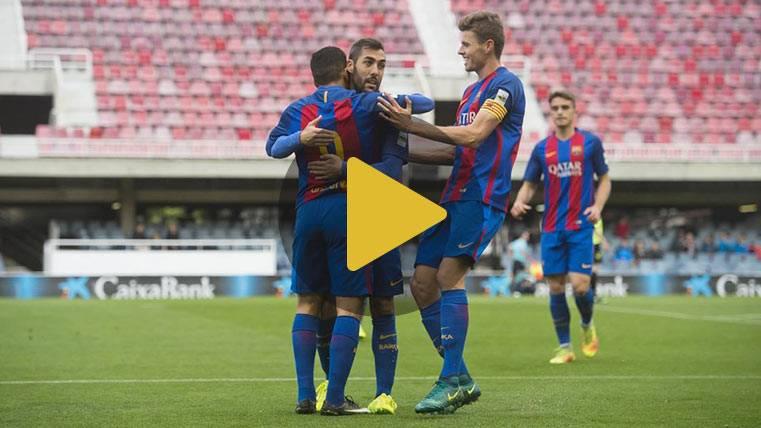 El Barça B hace historia con su goleada por 12-0 al Eldense