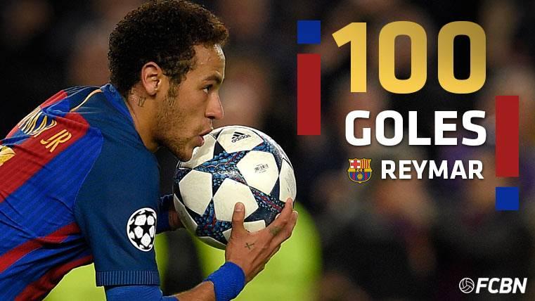 Neymar Júnior lideró al Barça y anotó su gol 100 como culé