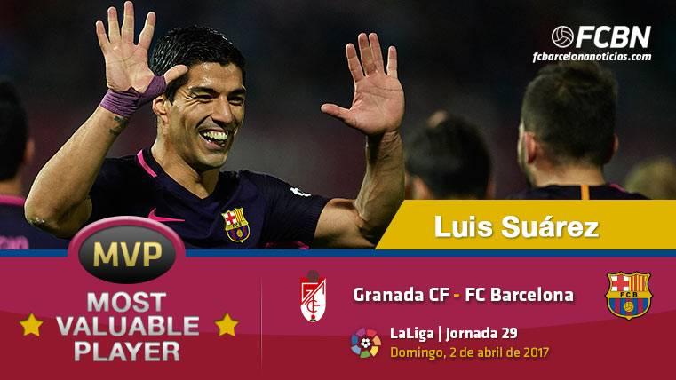 """Luis Suárez, el """"MVP"""" del FC Barcelona ante el Granada CF"""