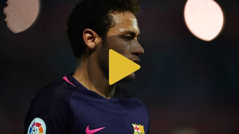 Dedicatoria feliz de Neymar tras el gol 100 con el Barça