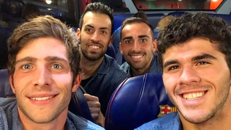 Los cracks del Barça, felices por la victoria y el debut de Aleñá