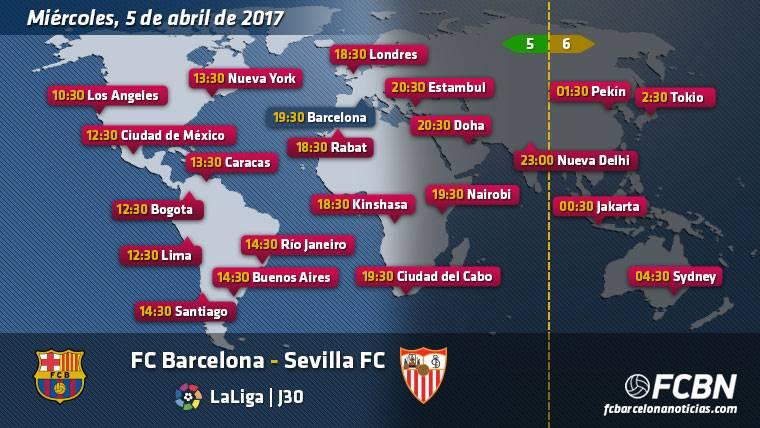 Horarios y TV del FC Barcelona vs Sevilla de Liga