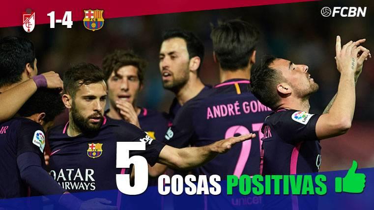 ANÁLISIS: Las 5 cosas positivas del Granada-Barcelona