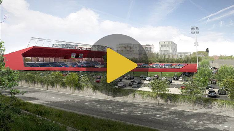 El Estadi Johan Cruyff del Barça emociona a su hijo Jordi