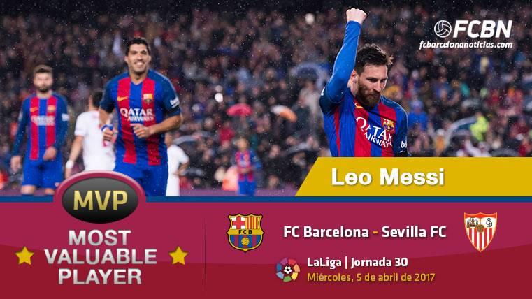 """Leo Messi, el """"MVP"""" del FC Barcelona ante el Sevilla FC"""