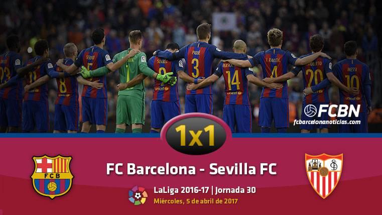 El 1x1 del FC Barcelona frente al Sevilla FC (Liga J30)