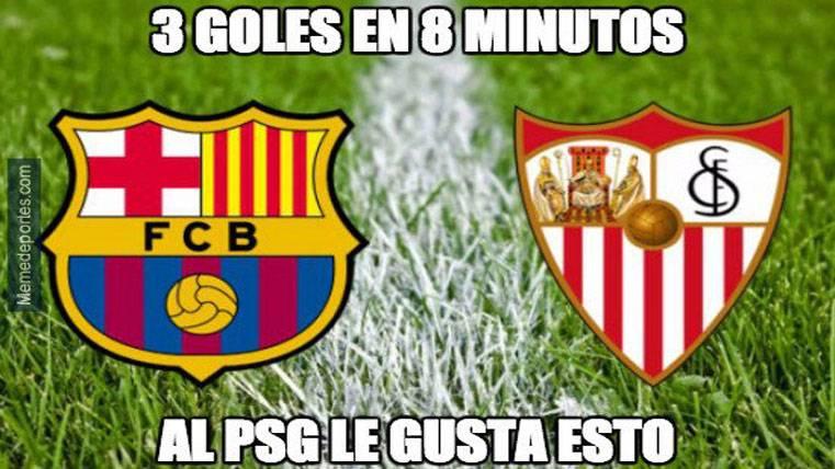 """Este es el mejor """"meme"""" del FC Barcelona-Sevilla"""