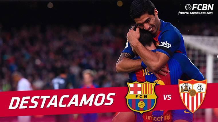 El Barça fue un vendaval en el primer tiempo ante el Sevilla