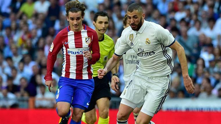 Antoine Griezmann le dio el empate al Atlético de Madrid ante le Real Madrid