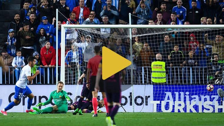 Vídeo resumen: Málaga 2 FC Barcelona 0 (LaLiga J31)