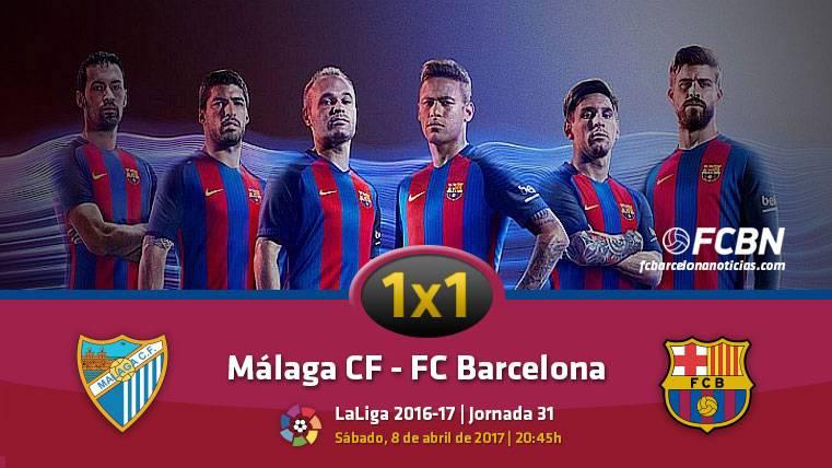El 1x1 del FC Barcelona frente al Málaga (Liga J31)