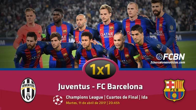 El 1x1 del Barcelona frente a la Juventus (Ida 1/4 Champions)