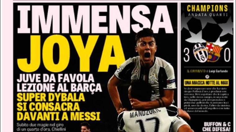 La prensa mundial se rindió a Dybala y retrató al Barça