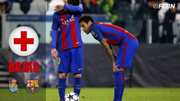 """Tanto el Barça como la Real llegan """"tocados"""" por las bajas"""