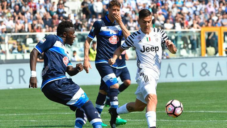 Paulo Dybala, durante el partido contra el Pescara este sábado
