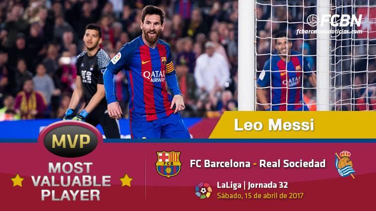 """Leo Messi, el """"MVP"""" del FC Barcelona ante la Real Sociedad"""