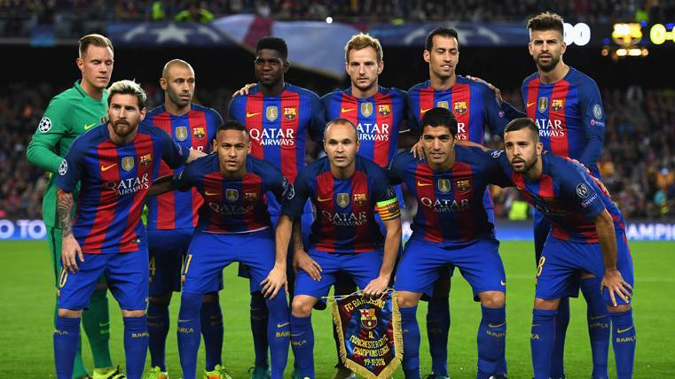 El FC Barcelona, con el once de gala contra la Juventus de Turín