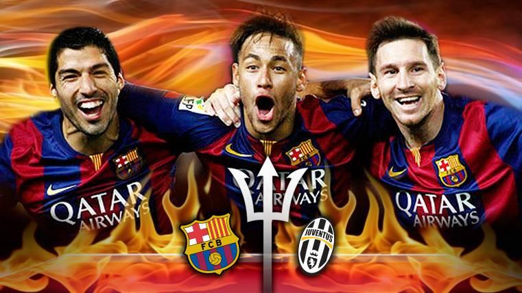 """MSN: Tres """"cracks"""" para tres goles en el Barça-Juventus"""