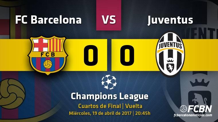El FC Barcelona acabó empatando a cero contra la Juventus