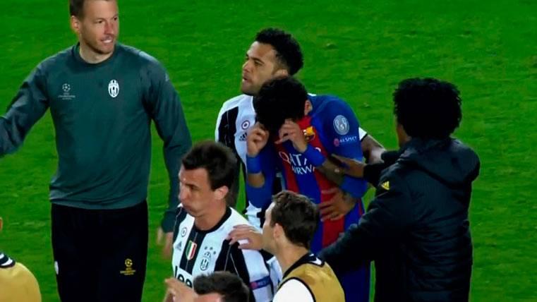 Neymar Júnior rompió a llorar tras el Barça-Juventus