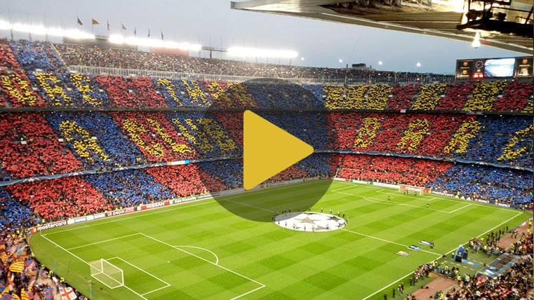 El Camp Nou creyó en la remontada con un lleno absoluto