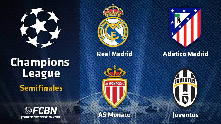 These are the semifinals of the Champions League 2016-2017