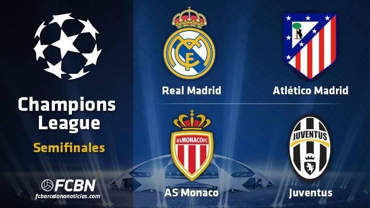 Estas son las semifinales de la Champions League 2016-2017