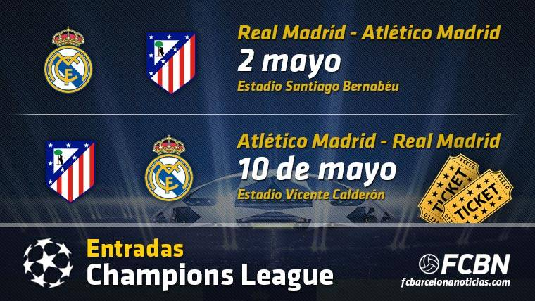 Entradas Real Madrid vs Atlético Madrid - Champions League