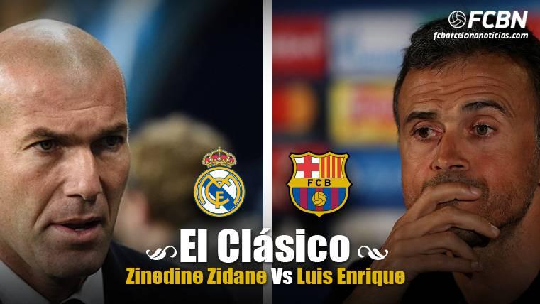 Zidane vs Luis Enrique: Fondo de armario contra variación táctica